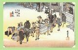 歌川広重 「東海道五十三次 藤枝」原画