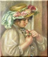 胸に花を飾る女 原画