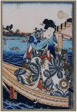 豊国の役者絵 「岩井粂三郎」原画