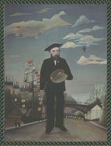 アンリ・ルソーの大人の塗り絵 「 私自身 肖像=風景 」原画