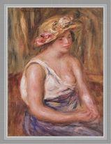 オーギュスト・ルノアール 「麦わら帽子の女」原画