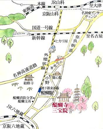 醍醐寺-map