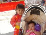 姉妹の夏祭り