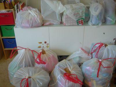 ゴミ袋いっぱい