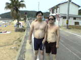 okayama 西脇 with son