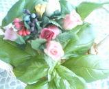 バジルと花