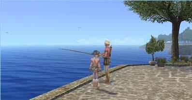 釣りを眺める
