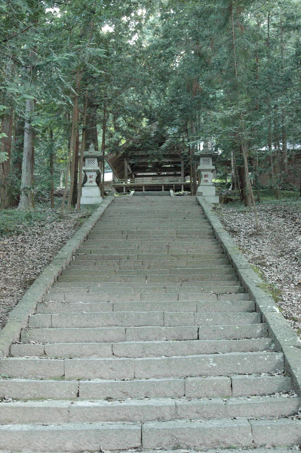 武田八幡神社、本堂への階段