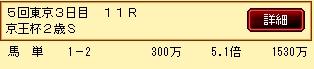 第4S:11月3週 京王杯2歳S 的中馬券