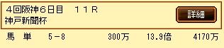 第9S:09月5週 神戸新聞杯 的中馬券