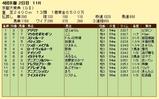 第13S:10月2週 京都大賞典 成績