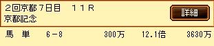 第8S:2月4週 京都記念 的中馬券