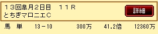 第10S:12月2週 とちぎマロニエC 的中馬券
