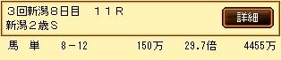 第8S:9月2週 新潟2歳S 的中馬券