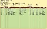 第13S:03月2週 弥生賞 成績