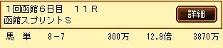 第5S:7月1週 函館スプリントS 的中馬券