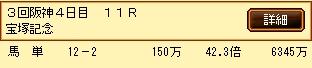 第8S:6月5週 宝塚記念 的中馬券