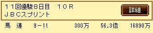 第4S:11月1週 JBCスプリント 的中馬券