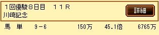 第8S:1月4週 川崎記念 的中馬券