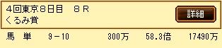第6S:11月1週 くるみ賞 的中馬券