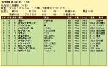 第7S:11月2週 北海道2歳優駿 競争成績