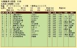 第9S:11月2週 北海道2歳優駿 競争成績