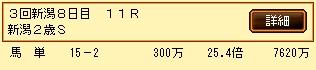 第10S:09月2週 新潟2歳S 的中馬券