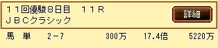 第10S:11月1週 JBCクラシック 的中馬券