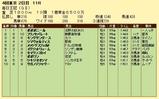 第15S:10月2週 毎日王冠 成績