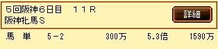 第9S:12月4週 阪神牝馬S 的中馬券