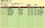 第9S:04月4週 フローラS 競争成績