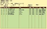 第7S:10月2週 毎日王冠 競争成績