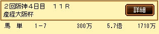 第9S:04月1週 産経大阪杯 的中馬券