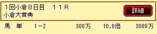 第9S:02月2週 小倉大賞典 的中馬券