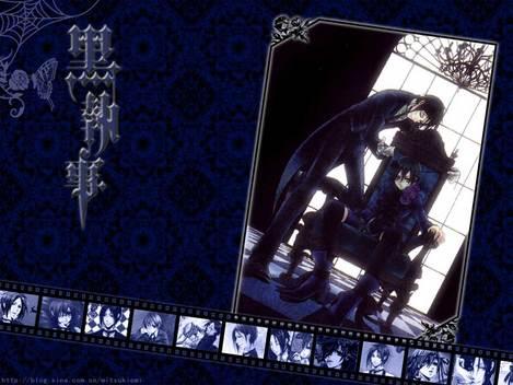 黒執事 壁紙1(ブルー)