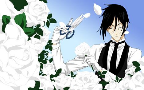 黒執事キャプチャー画像壁紙白薔薇