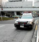 大井町 パトカー1台