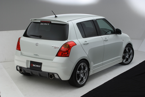 Suzuki Swift Sport White. Scrit Aerokit for Suzuki Swift