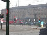 トリノ市街(路面電車が主流?)