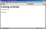 Scaffold のトップページ