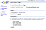 Google Custom Search Engine 作成画面2