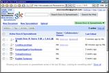 Google Docs トップページを Opera で表示