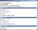 Opera CSS Editor 1