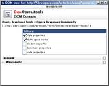 Opera DOM Console 1