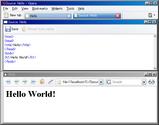 Opera HTML とソースを画面分割で表示
