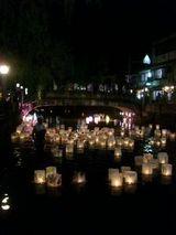 花火と灯篭2