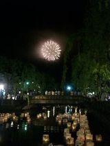 花火と灯篭4