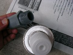 塩ビパイプを使った太陽熱温水器