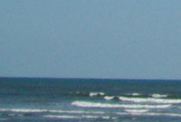 九十九里の海と大空0903月