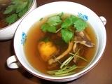 栗入り舞茸スープの完成